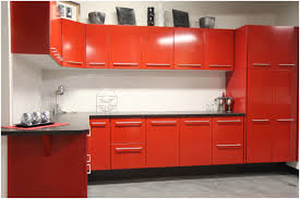 red kitchen cabinets with yellow walls kitchen decoration