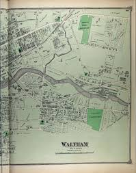 Map Of Eastern Massachusetts Historical Maps Waltham