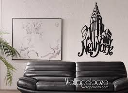 city wall decals etsy new york wall decal art