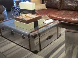 Vintage Trunk Coffee Table Coffee Table Rustic Chest Coffee Table Metal Trunk Style Set