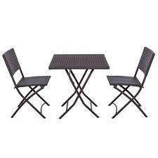 palm springs garden furniture rattan wicker folding bistro set w