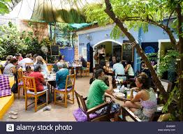 Asia Villa by People Sitting At The Villa Blanche Bistro Assagao Goa India