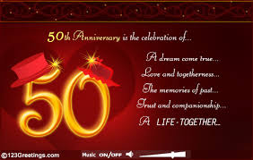 50th wedding anniversary greetings 50th wedding anniversary quotes for friends tbrb info