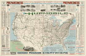 United States Map With Highways by Hupmobile United America Tour 1918 World Digital Library