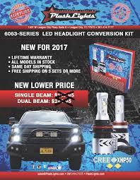 plashlights 6063 series led headlight conversion kit pair