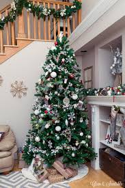 How To Decorate A Swag For Christmas How To Hang A Garland On The Stairs Clean And Scentsible