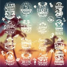 summer designs collection vector free