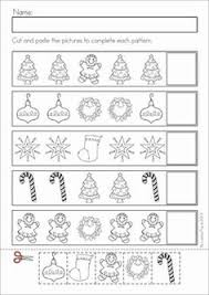 christmas pattern worksheets for preschoolers christmas pattern