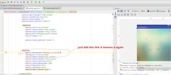 layout android refresh layout refresh is not available in android studio 2 2 stack overflow