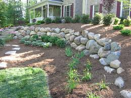 Backyard Retaining Walls Ideas by Boulder Retaining Wall Ideas
