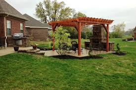 Rustic Patio Furniture Sets by Pergola Patio Ideas In The Backyard Of Rustic House Including