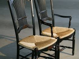 Dining Chair Seats Custom Black Fan Back Style Dining Chairs With Seat By
