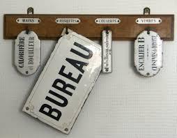 plaque bureau boutique nain de jardin plaque émaillée bureau vintage sign