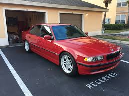 matte red bmw e38 fs 2001 bmw 740i m sport imola red