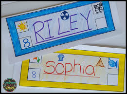 student name tags for desks back to activity name tag glyph a classroom for all seasons