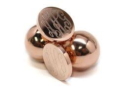 Gold Monogram Earrings Stainless Steel Gold Monogram Earrings With Gold Pearl Backs