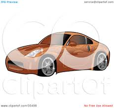 nissan 350z drawing clipart illustration of an orange nissan 350z sports car with