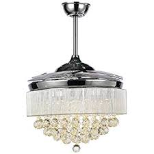 Fan With Chandelier Light Rs Lighting European Crystal Ceiling Fan 42 Inch With Retractable