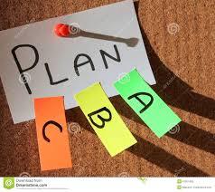 plan a plan b plan c stock photo image 47951485