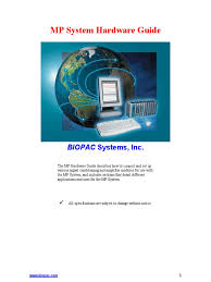 biopac mp hardware guide pdf data acquisition ethernet