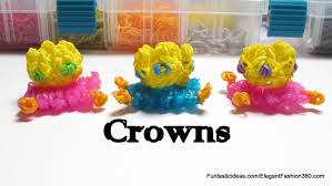 rainbow loom crowns charm how to emoji emoticon youtube