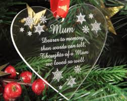 in memory of gifts personalised memory bauble etsy