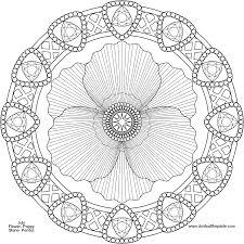 august mandala throughout flower mandala coloring pages glum me