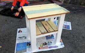 Build A End Table by Build A Rustic Diy End Table From Reclaimed Wood House U0026 Hammer
