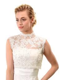 topwedding sleeveless beaded lace bridal shrug wedding bolero