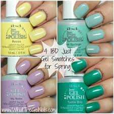 ibd just gel swatches for spring