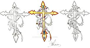 cross with butterfly tattooposter tk
