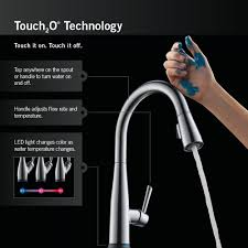 touch2o kitchen faucet delta 16926 sssd dst lewiston single handle pull out kitchen