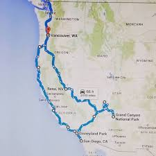 road trip map of usa map us west coast west coast road trip map west coast road