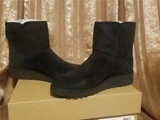 size 12 womens ankle boots australia ugg australia black suede sheepskin boots size 8 us ebay