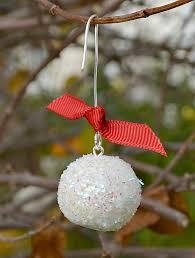 sculpey snowball ornaments one artsy