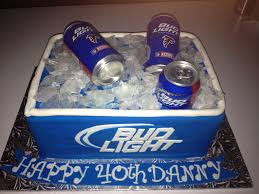 bud light beer can bud light cooler of beer cake all edible except beer cans my