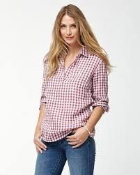 popover blouse gingham the great linen popover shirt