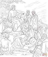 jesus teaching people coloring page free printable coloring pages