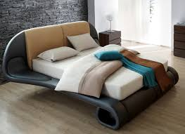 sienna modern leather bed