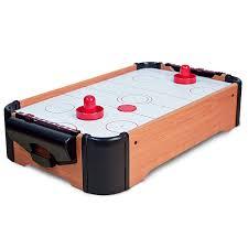 kids air hockey table wooden mini table top game set kids desktop hockey football pool