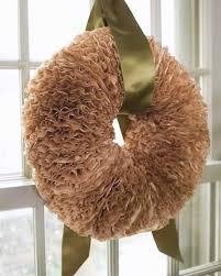 coffee filter wreath martha stewart crafts