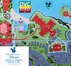 Walt Disney World Resorts Map by The Villas At Disney U0027s Grand Floridian Resort U0026 Spa Dvcinfo Com