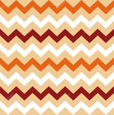 thanksgiving orange white and brown seamless chevron pattern