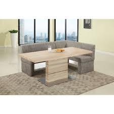 Somette Liberty Light Oak Brown Stainless Steel Pedestal Dining - Light oak kitchen table
