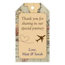 travel tags images Travel themed party favour tag vintage wedding gift tags zazzle ca jpg