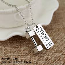 diy men necklace images Fitness gym pendant jewelry lover friend bodybuilding necklaces jpg