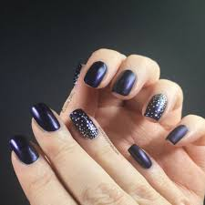 easy nail art matte navy blue stamped silver keely u0027s nails