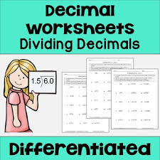 dividing decimals worksheets differentiated by sheila cantonwine