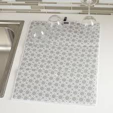 harman geo pattern reversible dish drying mat kitchen