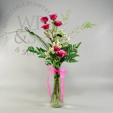 Bulk Bud Vases Fluted Glass Bud Vase Wholesale Flowers And Supplies